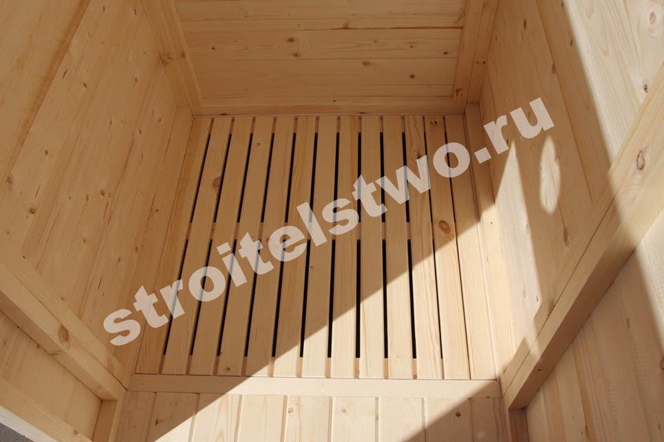 деревянный душ